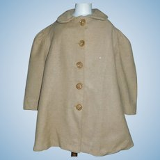Early Camel Wool Child / Large Doll Coat