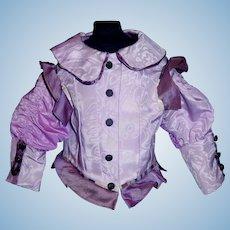 Lovely Purple Silk Fashion Doll Blouse