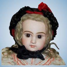 Lovely Red Velvet Antique Doll Hat