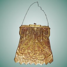 Wonderful  Whiting & Davis Gold Tone Mesh Purse