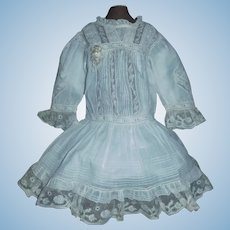 Beautiful Antique Doll Dress for a French or German Bebe