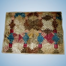 Lovely Antique Silk Doll Quilt