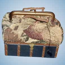 Nice Carpet Bag Travel Valise for a French Fashion Doll