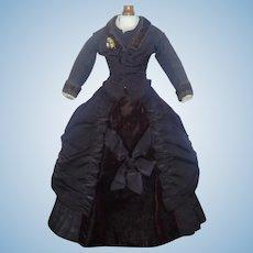 Fabulous Antique  French Fashion Silk Dress