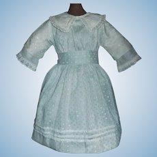 Sweet Early Vintage Mint Green Doll Dress