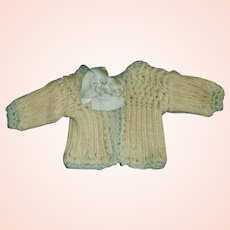 Sweet Little Antique Doll Sweater