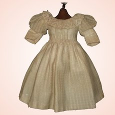 Lovely Antique French or German Bebe Doll Dress