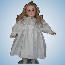 Lovely White Pique Cotton Antique Bebe Doll Coat