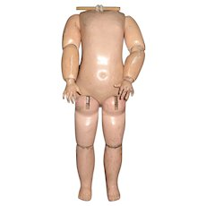 "Antique 14"" French Bebe Jumeau Doll Body"