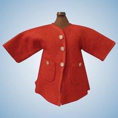 Nice Vintage Red Wool Doll Coat