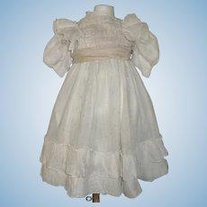 Pretty Large Doll Dress, Dots and Ruffles