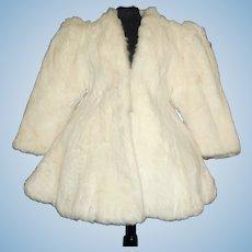 Fabulous Early White Fur Doll Coat, Zirkin, Washington DC.