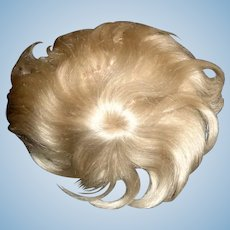 Nice Antique Small Blonde Mohair Doll Wig