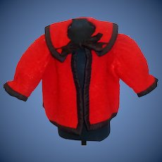 Nice Red Wool Doll Jacket, French or German