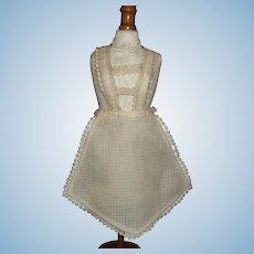 Nice Small Antique Doll Apron, China , Papier Mache, Cloth
