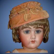 Nice Early Pink Velvet Doll Hat