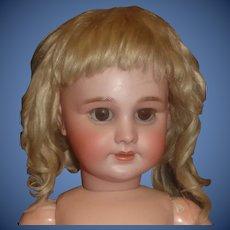 Lovely Antique Light Blonde Mohair Doll Wig