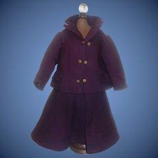 Wonderful Plum 2 Pc Fashion, Lady Doll Suit
