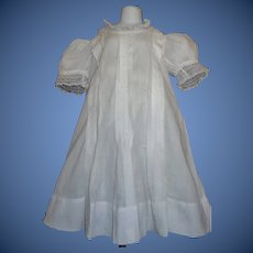 Nice White Antique Dress for a Large Doll