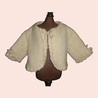 Sweet Antique White Wool Baby Doll Jacket