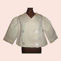 Wonderful Antique White Pique Doll Coat
