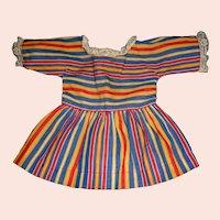 Lace Trimmed Stripe Doll Dress