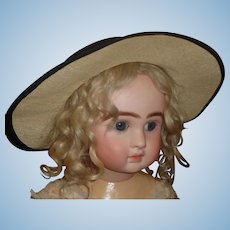 Old Vintage Straw Doll Hat
