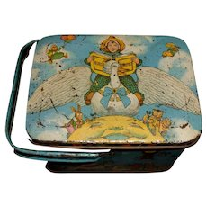 Wonderful Early Doll Size Kiddyland Mother Goose Lunch Tin