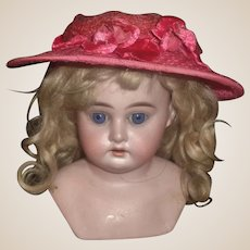 Pretty in Pink Vintage Doll Hat