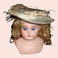 Lovely Early Brushed Velvet Doll Hat