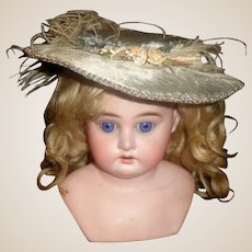 Lovely Early Brushed Velvet Doll Hat