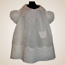 Sweet Organdy Dress for a Chunky Baby Doll