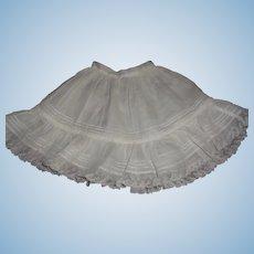 Pretty Antique French or German Bebe Petticoat