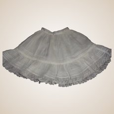 Pretty Antique French or German Bebe Petticoat