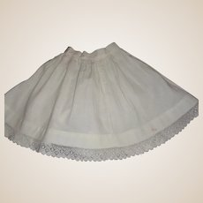 Nice White Cotton Antique Doll Petticoat