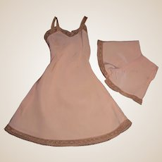 Lovely Vintage Pink Fashion Doll Slip with Matching Shorts