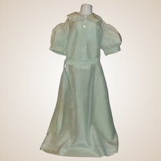 Pretty Antique Green Silk Baby Doll Gown
