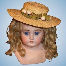 Nice Vintage Doll Straw Hat