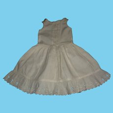 White Cotton Antique Bebe Doll Full Petticoat