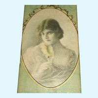 Small Antique Chocolate Box for Doll Display