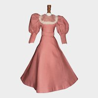 Lovely Pink / Mauve French Fashion / Lady Doll Dress