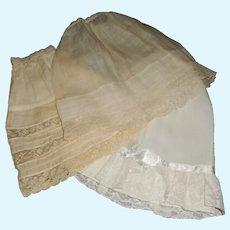 3 Early Made Fashion / Lady Petticoats
