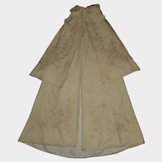 Beautiful Antique Silk / Wool Baby Christening Cape