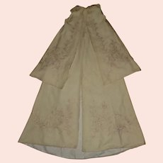 Beautiful Antique Silk / Wool Baby Christening Cape