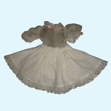 White Organdy Blouse with Attached Cotton Petticoat and Pantaloons