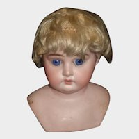 Small Sparse Antique Blonde Mohair Doll Wig, Needs TLC
