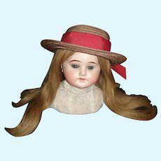 Taupe Doll Hat with Red Hat Band