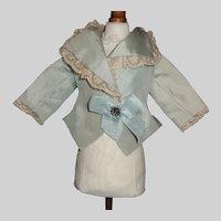 Blue Silk Fashion Doll Jacket