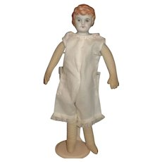 Bisque Shoulder Head Doll, Painted Features