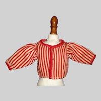 Red Stripe Early Fashion Doll Jacket